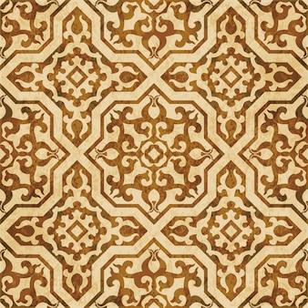 Texture aquarelle marron, modèle sans couture, kaléidoscope royal croix islamique