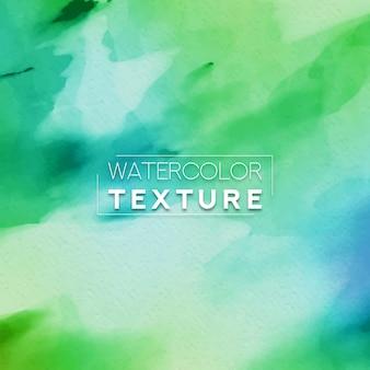 Texture aquarelle avec des nuances vertes