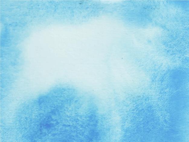 Texture aquarelle peinte à la main bleue