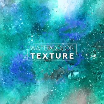 Texture aquarelle verte avec éclaboussure bleue