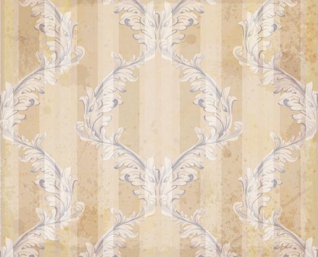 Texture d'arrière-plan ornement classique décor. arrière-plans grunge vintage de vecteur