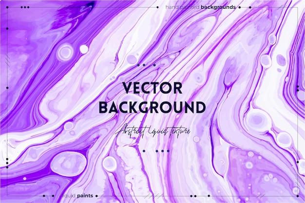 Texture d'art fluide. effet de peinture irisée abstraite. couleurs débordantes de violet, de blanc et de lavande.
