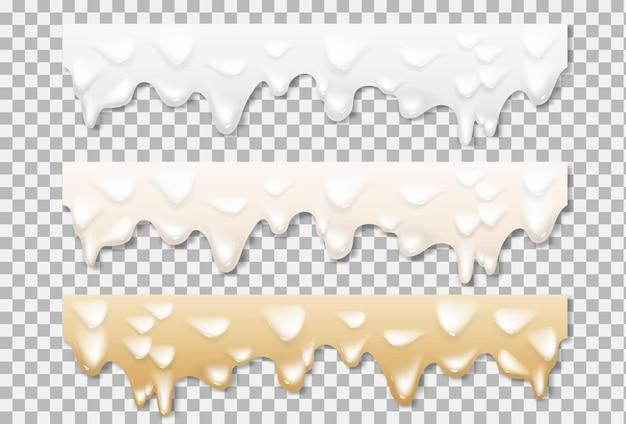 Texture blanche de mayonnaise liquide
