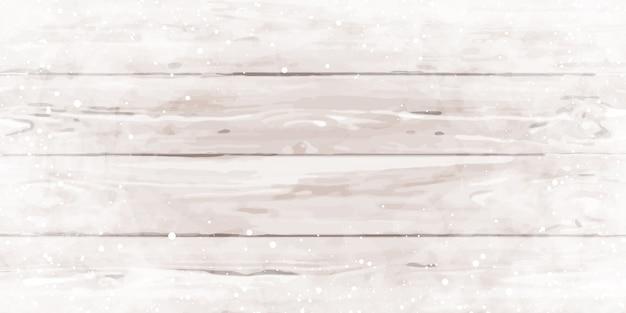 Texture en bois avec des flocons de neige.