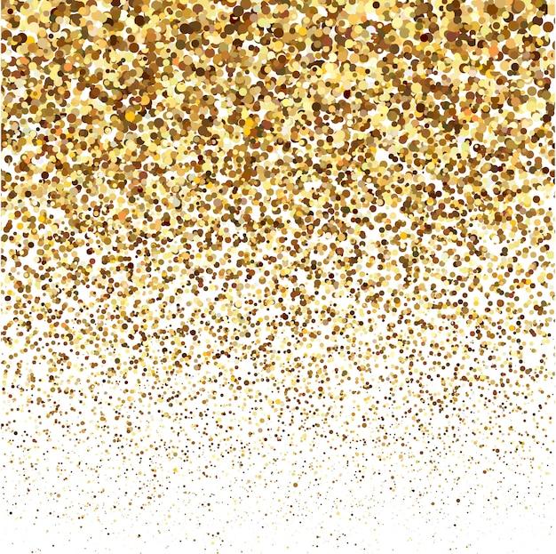 Texture de brillance de paillettes d'or sur fond blanc