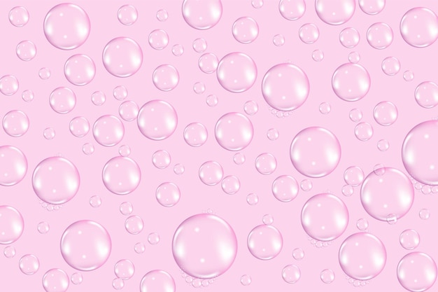 Texture de bulles de savon transparent volant