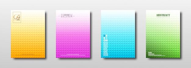 Texture carré géométrique abstraite avec dégradé coloré
