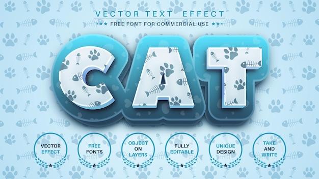 Texture de chat modifier le style de police d'effet de texte