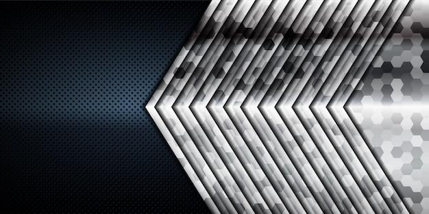 Texture de couches de chevauchement réaliste abstraite avec décoration d'élément de lumière argentée