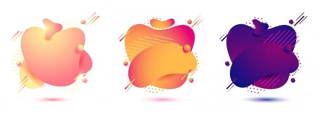 Texture de couleur différente jeu de formes abstraites