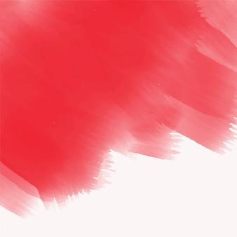 Texture de coup de pinceau aquarelle rouge élégant