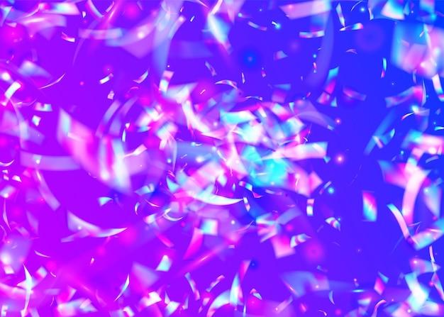 Texture cristalline. webpunk art. glitch glitter. feuille numérique. prisme laser. disco décoration abstraite. effet brillant violet. chute de clinquant. texture cristal rose