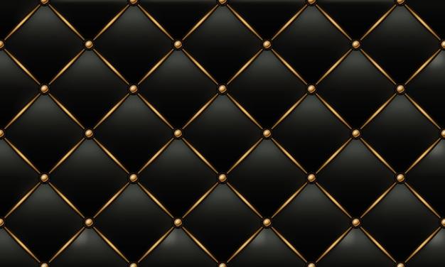 Texture de cuir or et noir