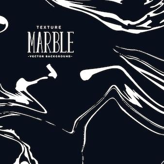 Texture de marbre liquide en couleur noir et blanc