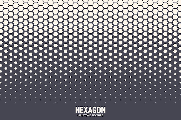 Texture demi teinte hexagonale motif géométrique rétro coloré technologie abstrait