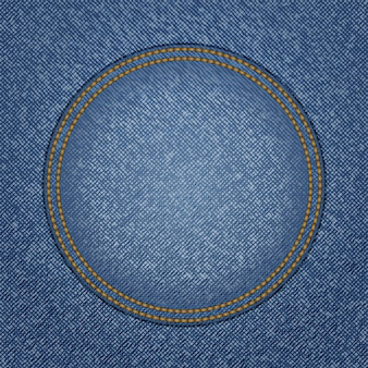 Texture denim avec poche ronde