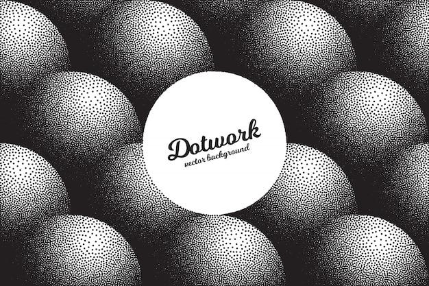 Texture dotwork rétro abstrait
