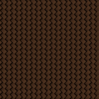 Texture du modèle sans couture tissage cuir marron
