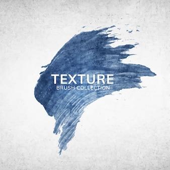 Texture du trait de pinceau bleu