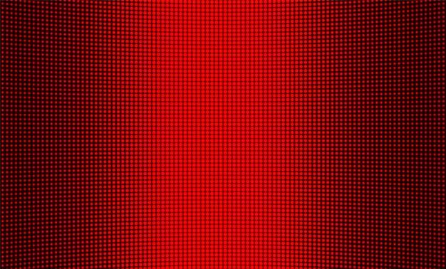 La texture de l'écran led. affichage numérique. fond de pixels de couleur. écran lcd. mur vidéo de télévision rouge