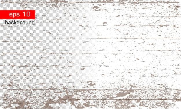 Texture avec effet bois sur le fond transparent et blanc background grunge vector