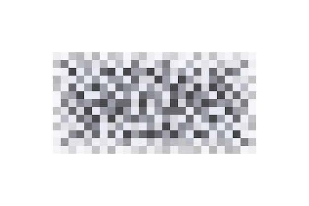 Texture d'effet de flou de censure pour le visage ou la peau nue rectangle de censure de pixels flous