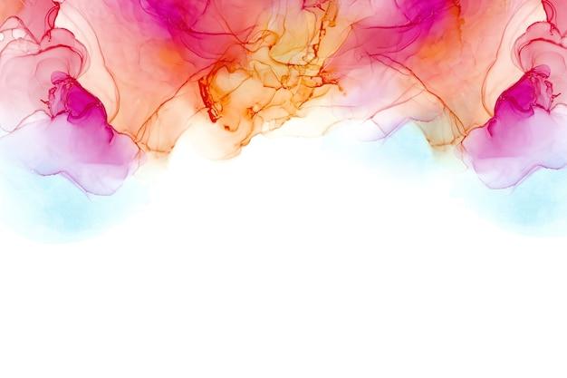Texture d'encre d'alcool abstrait d'encre fluide peinture abstraite colorée
