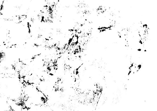Texture d'encre grunge urbaine imprimée à la main impression monochrome vintage abstraite illustration vectorielle