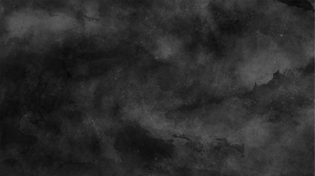 Texture d'encre noire brumeuse avec des coups de pinceau