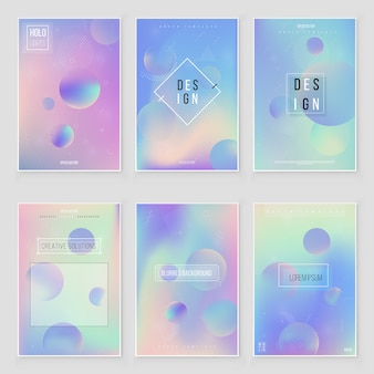 Texture de feuille irisée holographique abstraite définie les tendances de style moderne des années 80-90.