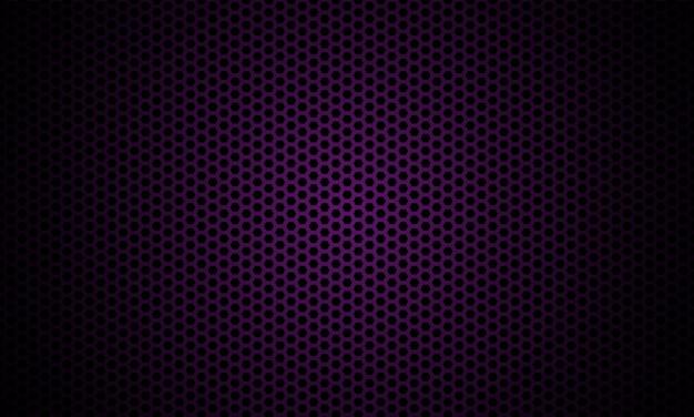 Texture de fibre de carbone hexagone violet foncé.