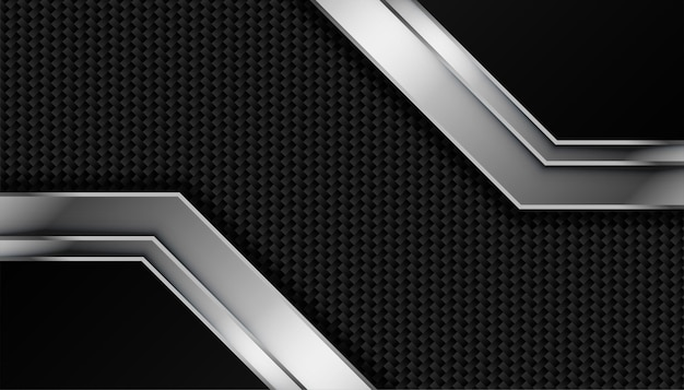 Texture en fibre de carbone avec des lignes métalliques