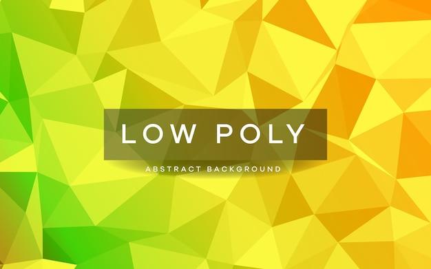 Texture de fond abstrait poly faible jaune