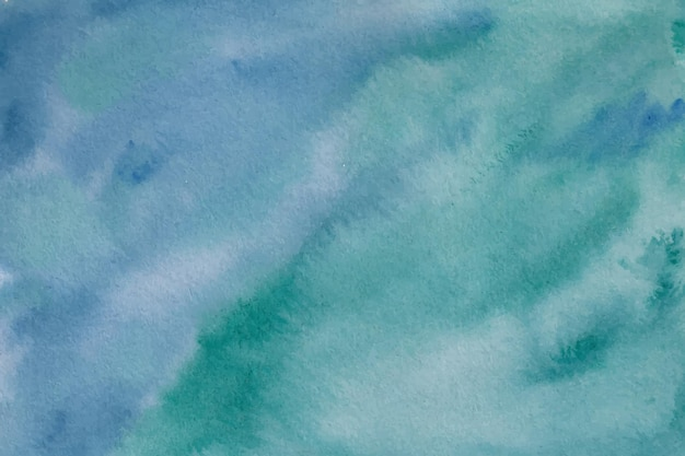 Texture de fond aquarelle vert bleu