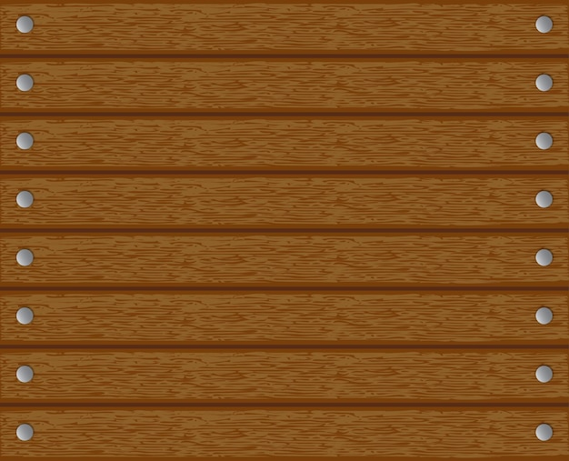 Texture, fond, bois avec des clous