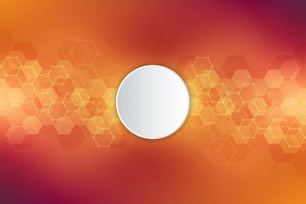 Texture de fond géométrique avec structures moléculaires et génie chimique.