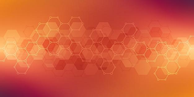 Texture de fond géométrique avec structures moléculaires et génie chimique