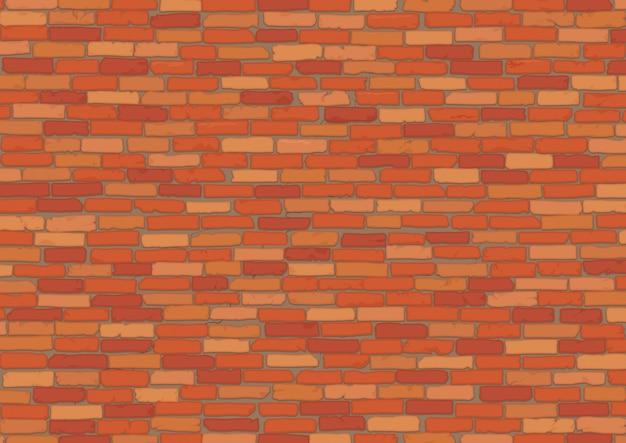Texture de fond de mur de brique rouge réaliste élégant.