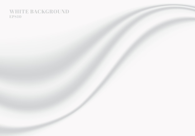 Texture et fond de vague douce lisse abstrait tissu blanc