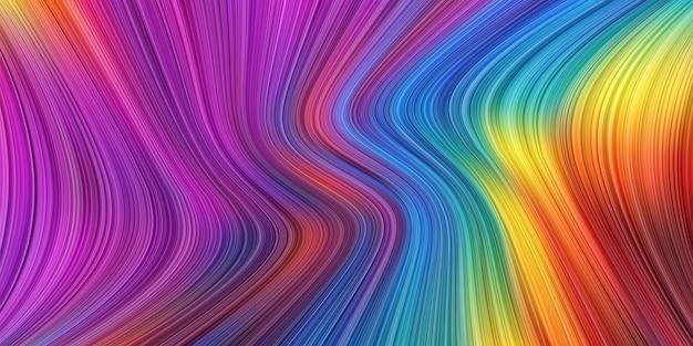 Texture de forme liquide tordue 3d abstraite