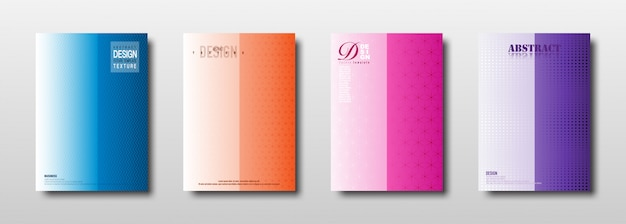 Texture géométrique abstraite avec une collection de dégradés colorés