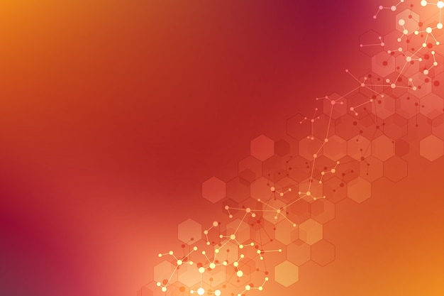Texture géométrique abstraite avec des structures moléculaires et un réseau neuronal.