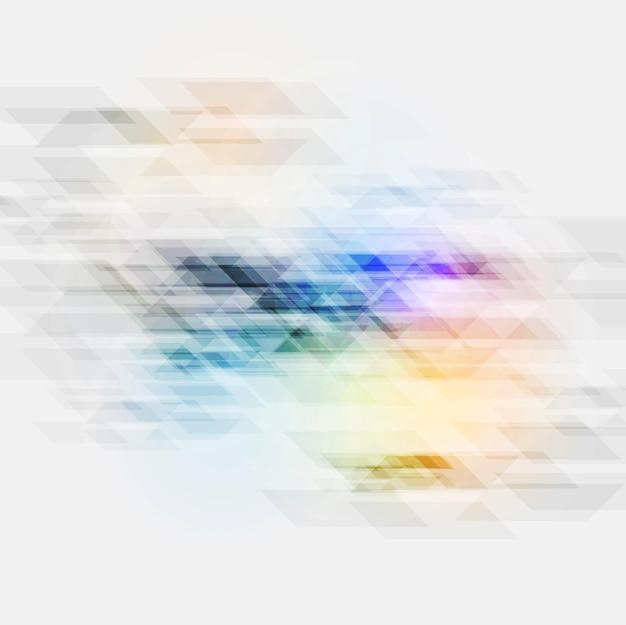 Texture géométrique abstraite tech colorée. fond de vecteur