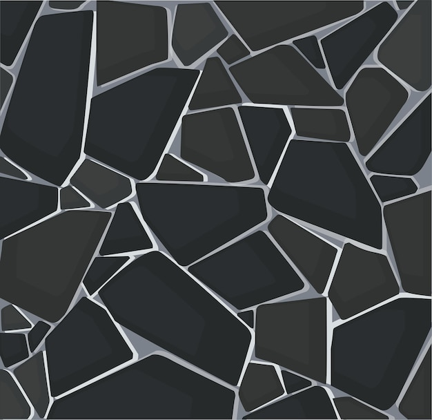 Texture de gravier noir