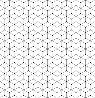 Texture de grille de motif géométrique de vecteur avec des lignes et des points.
