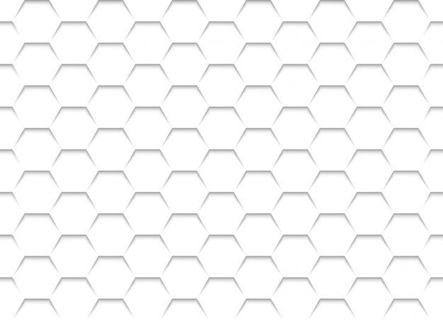 Texture de grille en nid d'abeille blanche