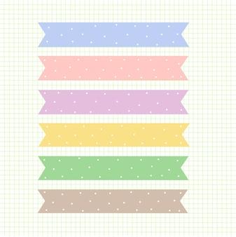 Texture de grille verte pastel ruban coloré