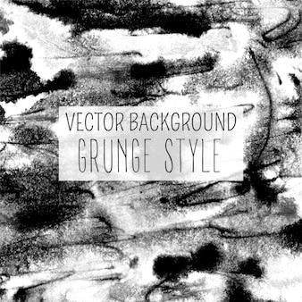 Texture grunge rétro aquarelle en noir et blanc