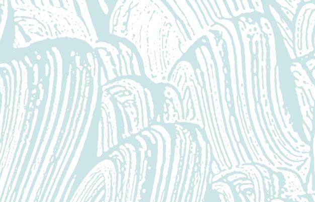 Texture grunge. trace rugueuse bleu de détresse. arrière-plan bizarre. texture grunge sale de bruit. surface artistique hypnotique. illustration vectorielle.