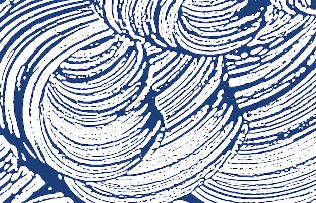 Texture grunge. trace rugueuse indigo de détresse. fond délicat. texture grunge sale de bruit. surface artistique indélébile. illustration vectorielle.